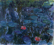 Claude Monet Painting Water Lilies Canvas Art Photo Printed To Reproduction Oil Custom