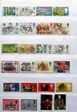 Reino Unido, 300 piezas, buenas condiciones, usadas con la marca postal, No se repiten los sellos postales para recoger