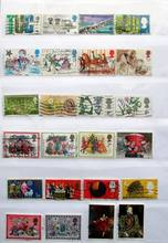 UK 300 Pieces Good Condition Used With Post Mark No Repeat Postage Stamps For Collecting
