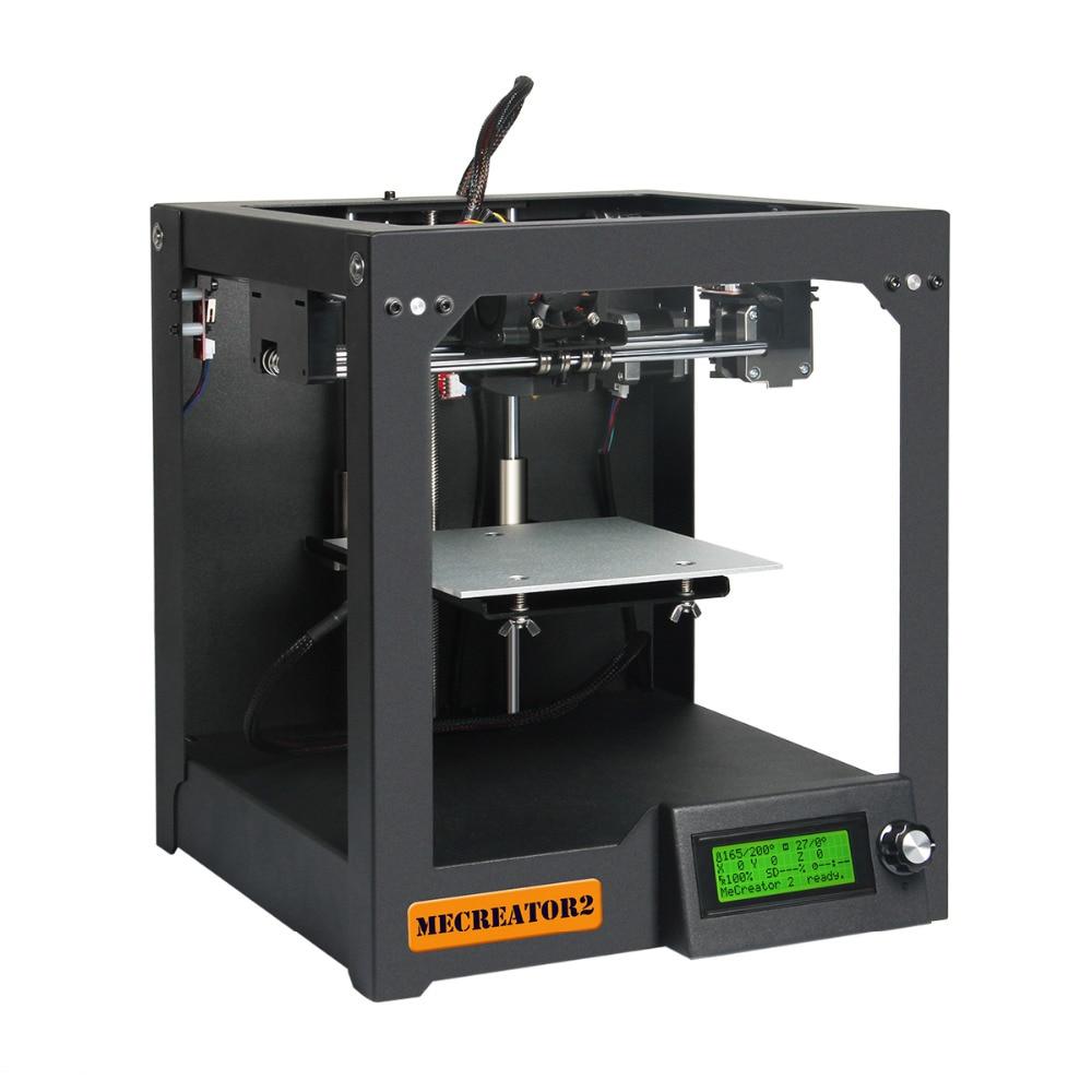Geeetech 3D Desktop Printer MeCreator 2 DIY Assembly Machine Kit with LED 110V 220V Optional High