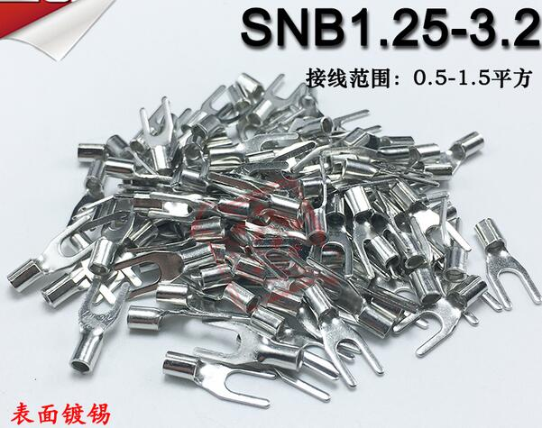 1000pcs/lot RNB1.25-4 Cold-Pressed Round O-Type Terminal Block Naked Head Brass Wire Nos ...