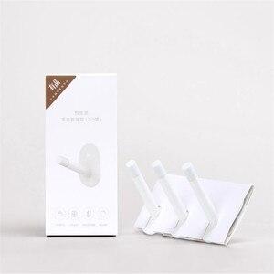 Image 5 - 3 parça Youpin HL küçük yapıştırıcı çok fonksiyonlu kanca/duvar paspas kanca güçlü banyo yatak odası mutfak duvar kanca 3kg max loa