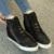 Hollow Marca de Alta Tops Transpirables Cuñas Plataforma Mujeres Zapatos Casual Mujer 2016 Verano Otoño de Tacón Alto Botas de Cuña