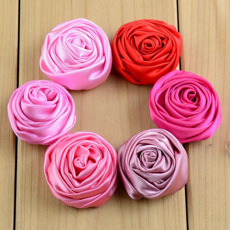 unidslote cm suave satn rosas flor de coser apliques de boda