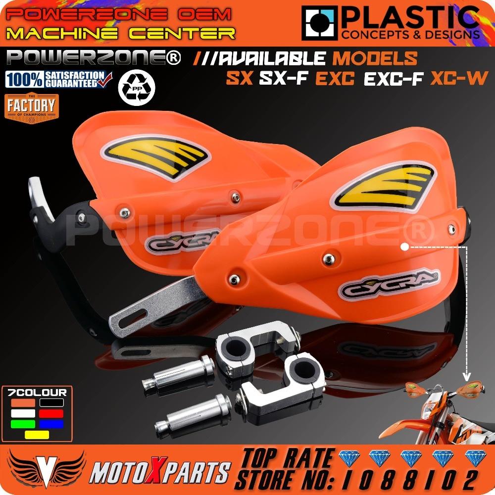 Powerzone Moto Dirt Bike VTT Guidon garde-Main Gardes Pour KTM SX SXF EXC XCW EXC F Husqvarna CRF YZF RMZ KXF KLX