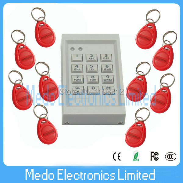 10 PCS Red keyfobs Card +125khz EM RFID Card Door Access Control Device with Small Size блок питания atx 600 вт exegate rm 600ads ex174459rus