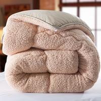 Winter qulit 200*230cm 3.5kgs blanket camel Fleece comforter doona edredon thick blanket duvet colcha comoforter bedspread