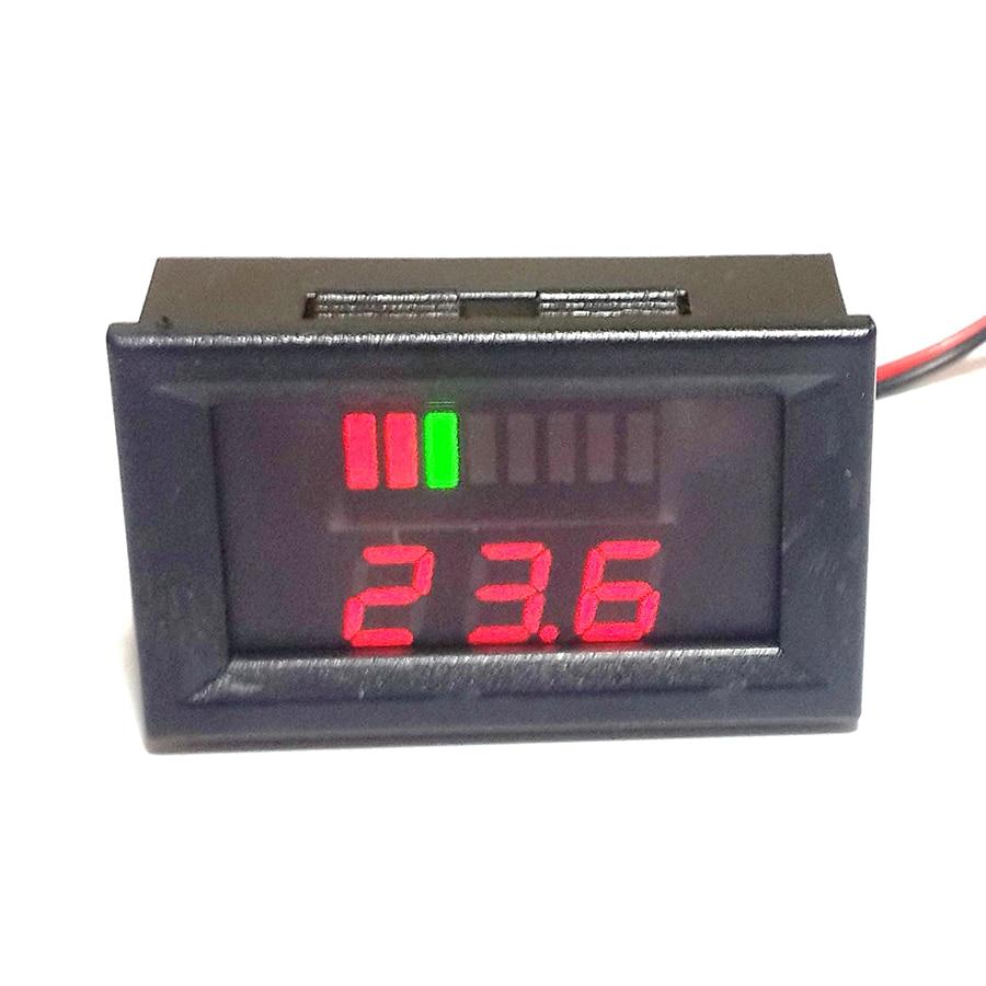 12-60V Battery Power Status Display Meter LED Display Digital Voltmeter