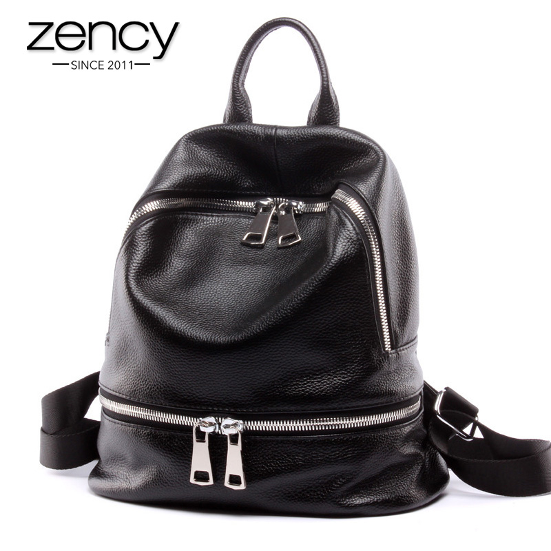New Arrival Fashion Genuine Leather Women's Backpacks for Teenage Girls Book School Bag Supplies Female Ladies Mochilas Feminina