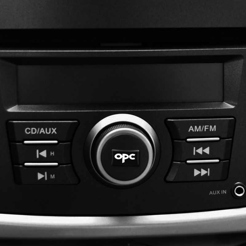 4 pièces OPC petit Badge Décoratif caches Moyeux volant pour OPEL OPC Insignes Astra Antara Bouclier Meriva Emblème De Voiture Autocollant