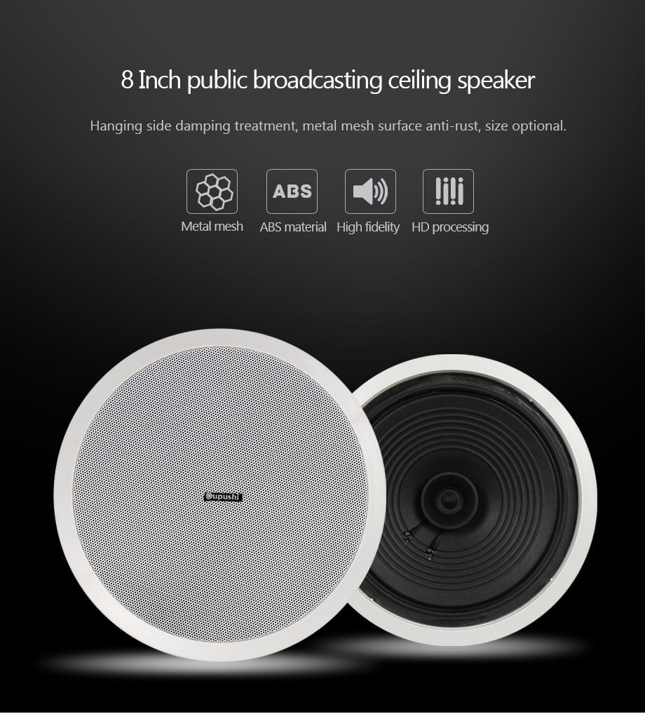 w speaker passiva 8 polegada speaker teto CE802