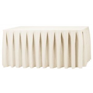 1pcs Quality Ivory Polyester Plain Table Skirting for Weddig Event Decoration , 75cmx540cm/75x240cm/75x400cm/75x300cm