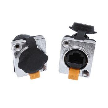 цена на RJ45 waterproof connector sockets,RJ45 female connectors, Ethernet connector,IP65 panel mount