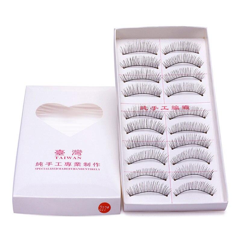 10 Pairs Handmade Natural Long False Eyelashes Makeup Maquillage Eyelashes Cilia Cilios Fake Eye Lashes Faux Cils  #217