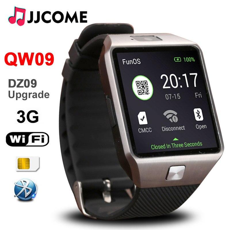 Original 3g wifi qw09 bluetooth pulseira inteligente homem sim cartão de fitness pulseira 4 gb/512 mb relógios telefone relógio pk a1 dz09 smartwatch