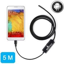 5 М Android OTG Эндоскопа 7 мм Мини Водонепроницаемый Эндоскопа Инспекционной Трубы трубы Камеры для Samsung Galaxy S5 S6 Note 2 3 4