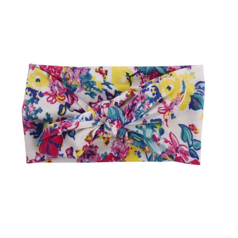 Neue Art Und Weise Nette Headwear Baby Mädchen Stirnband Blume Zubehör Kinder Floral Print Haar Band Headwear