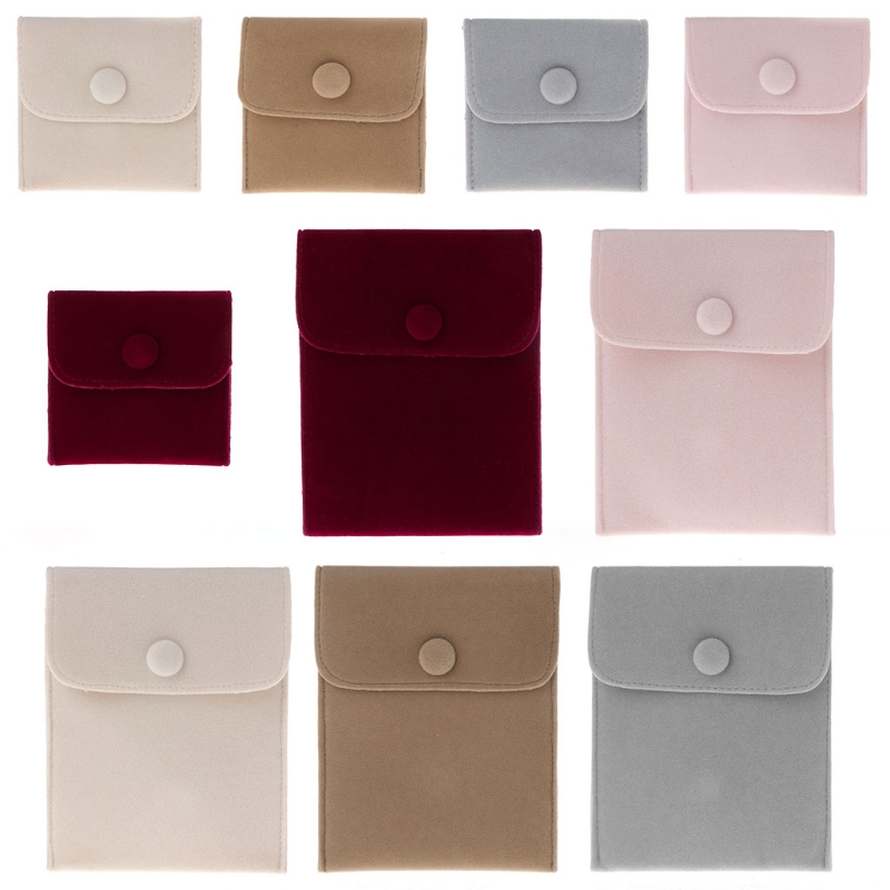 Jewelry Bag Storage Portable Soft Lint Velvet Flannel Bracelet Necklace Gift Bag Jewelry Storage
