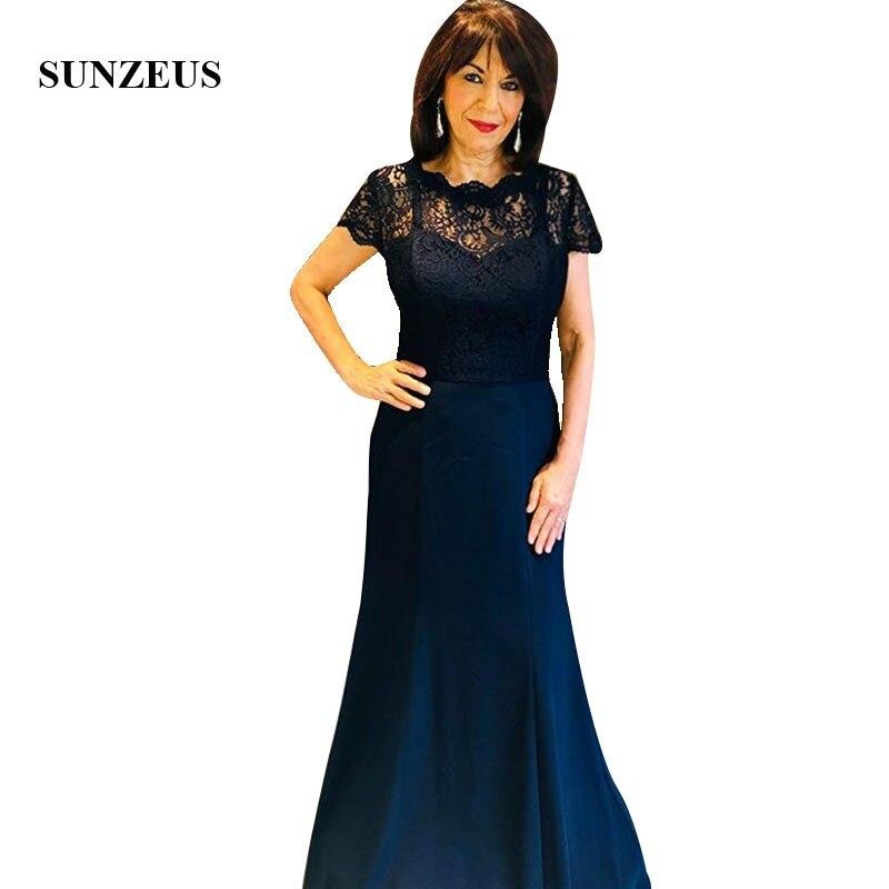 Sirène Spaghetti bretelles mère du marié longue robe avec dentelle veste élégante mariée mère robes pour la fête de mariage