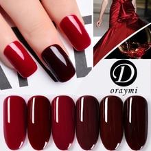 1pc Christmas Doraymi 10ml Gel Varnishes Wine Red Color Soak Off Nail Gel Polish Shiny Nail Gel Need UV Lamp Profession gel lak