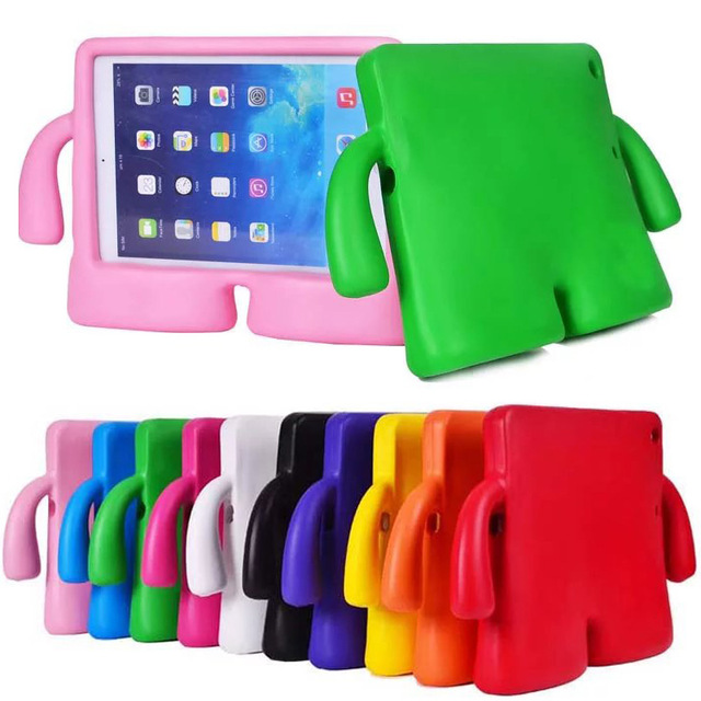 For iPad Air 3D Cartoon Kids EVA Soft Thick Foam Cover Stand Holder For iPad 9.7 New 201 ...
