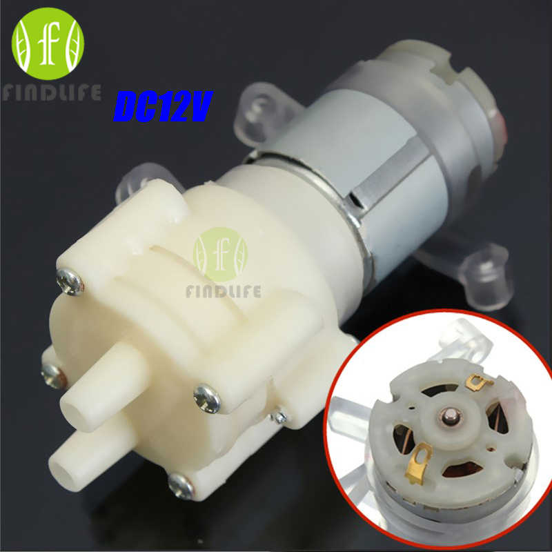 Dispensador de água Do Aquário Priming Bomba De Diafragma do Pulverizador Do Motor compressor de ar DC12V mini bomba Max Suction2m 90mm x 40mm x 35mm