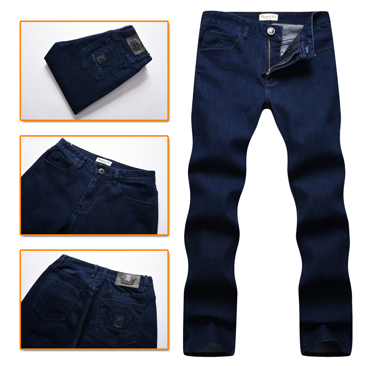 TACE&SHARK Billionaire jean men 2017 autumn new style comfort casual embroidery designed excellent quality trouser free-in Jeans from Men's Clothing    1