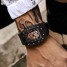 Baogela海賊スカルスタイルメンズ腕時計シリコーン発光クオーツ時計軍事wateproofスケルトン腕時計 1612