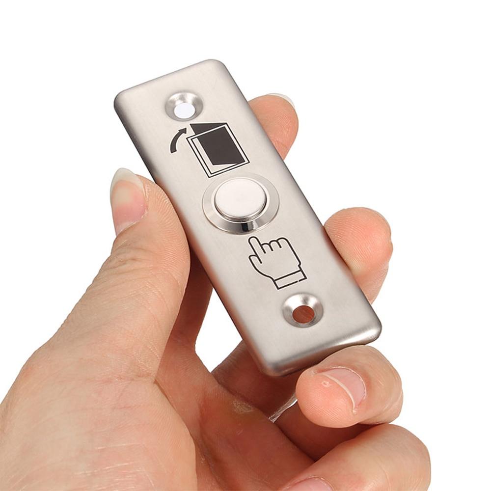 10 PCS Small Aluminium Alloy Door Access Button Emergency Alarm Push Button Auto Restoration Panic Alarm Release