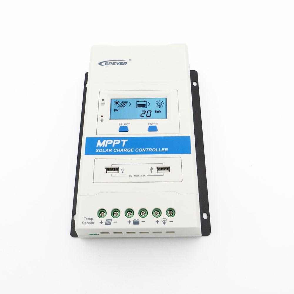 TRIRON USB1 DS1 MPPT 40A 30A 20A 10A Solar Charge Controller 12V 24V Auto Black light