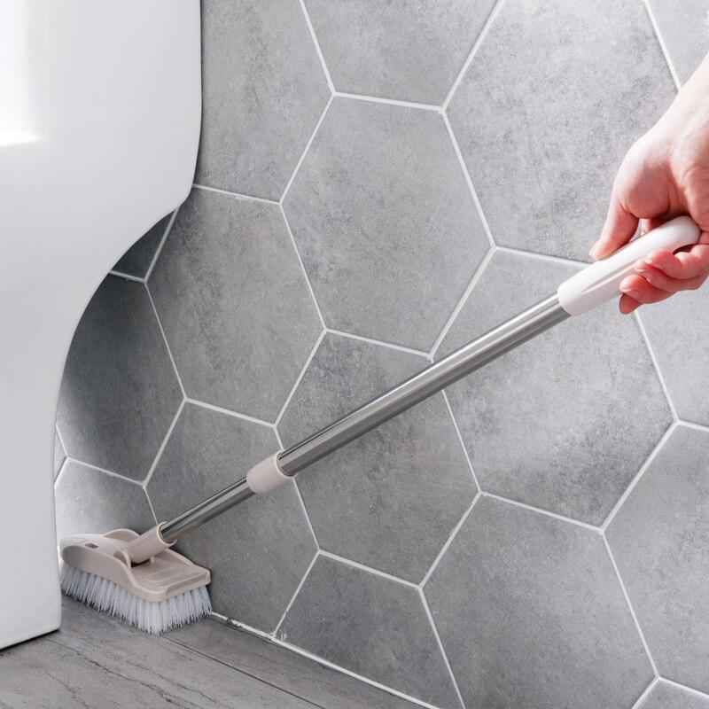 Einziehbare Lange Griff Reinigung Pinsel Borsten Bad Boden Pinsel