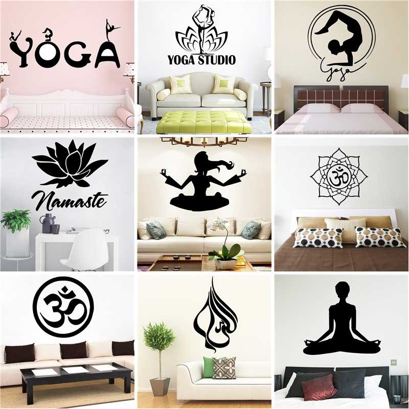 Detail Feedback Questions About New Design Yoga Vinyl Wall Sticker