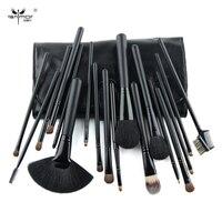 Travel Brush Set 18 PCS Makeup Brush Set Black Make Up Brushes Professional Makeup Brushes With