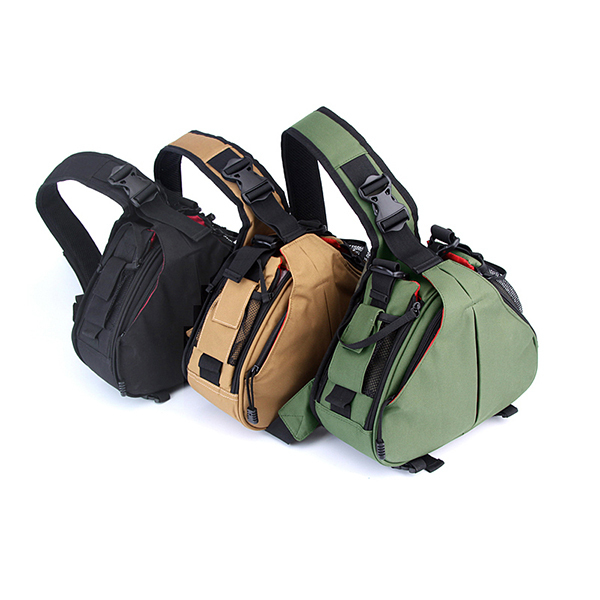 Nylon Waterproof Wear-Resistant DSLR/SLR Digital Sling Camera Case Shoulder Messenger Bag Backpack for Nikon For Canon For Sony