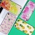 Frutas abacaxi silicone macio tpu transparente fina case capa coque para apple iphone 7 7 plus 4 4S 5 5S se 5c 6 6 s 6 s plus case