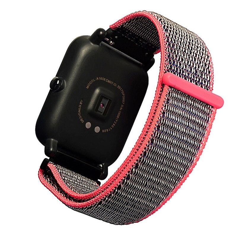 20 MM Autocollant Magique Toile Pour Huami Amazfit Montre Smart Watch Édition Jeunesse Bip PEU RYTHME Lite de courroie de bande de remise en forme bracelet H40
