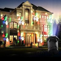 12 Patterns Moving LED Laser Projector Light IP65 Outdoor Waterproof Christmas Party Garden Landscape Decoration Lamp
