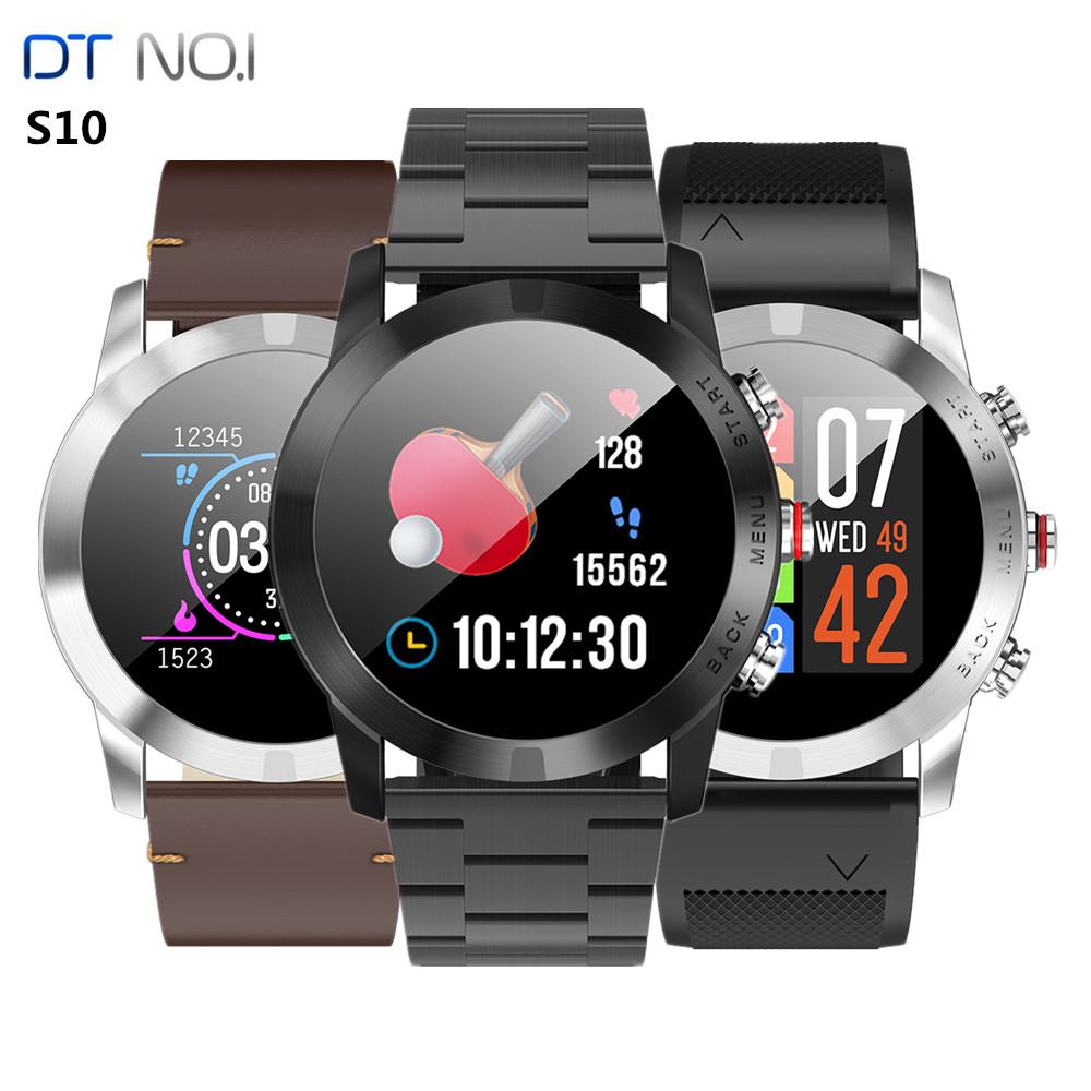 <font><b>DT</b></font> <font><b>NO.I</b></font> <font><b>S10</b></font> <font><b>Smart</b></font> <font><b>Watch</b></font> 1.3 Inch Nordic NRF52832QFAA 64KB RAM 512KB ROM Heart Rate Monitor Smartwatch Step Count IP68 350mAh image