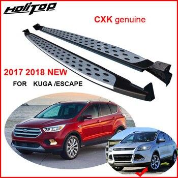 วิ่งด้านคณะกรรมการขั้นตอนบาร์ด้านข้างสำหรับ Ford Escape/Kuga 2013-2017 2018 2019,CXK geunine, BM ร้อนชุดจริง thicken อลูมิเนียม