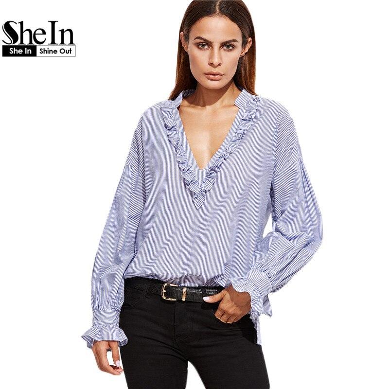 Amazing New Brand 2016 Spring Autumn Womens Dress V Neck Plain Long Sleeve Loose Mini Shirt Dress Long ...