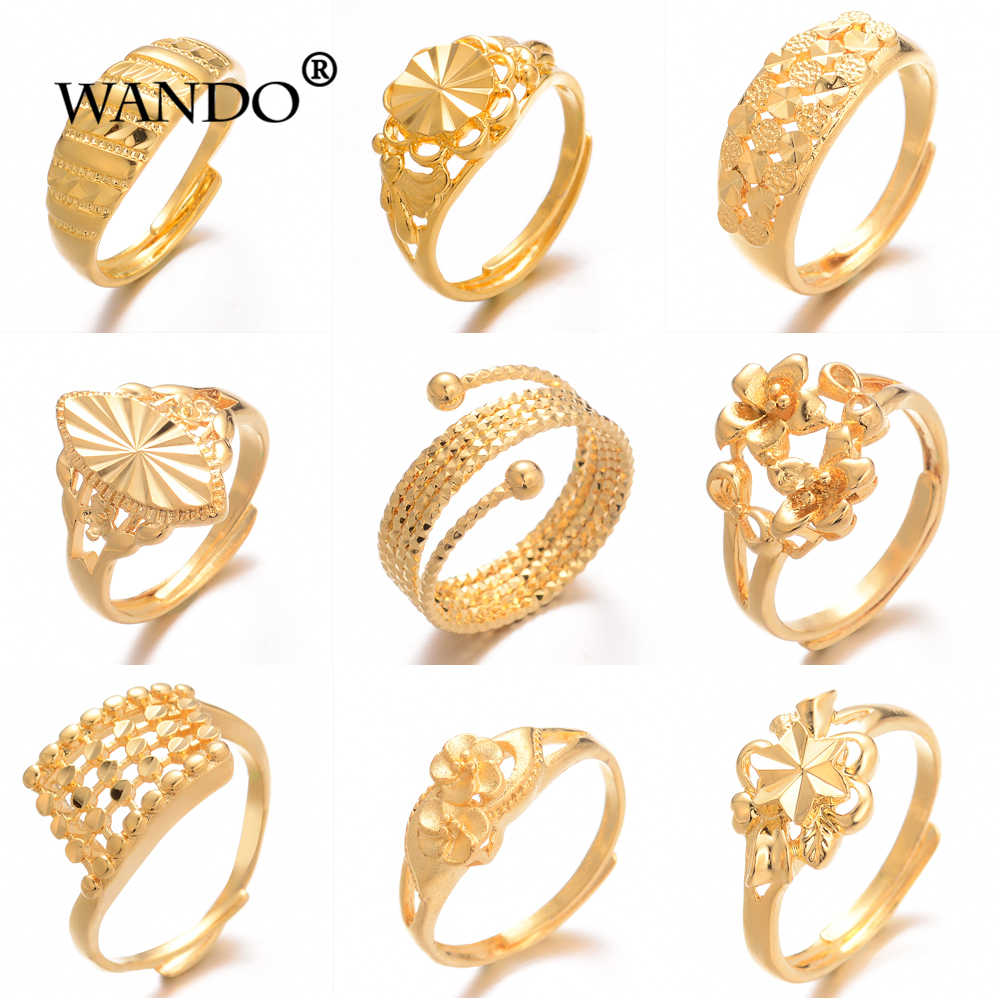 WANDO 10style rings Unique Personality Flower Rings For Women African Wedding Evening Party Luxury girlfriend jewelry gifts R63