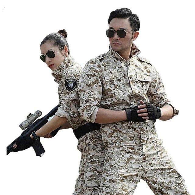 Multicam Camuflagem Caça Roupas De Pesca Roupas Tático Militar dos homens Ternos Uniformes Do Exército Combate Camo Ghillie Terno Das Mulheres