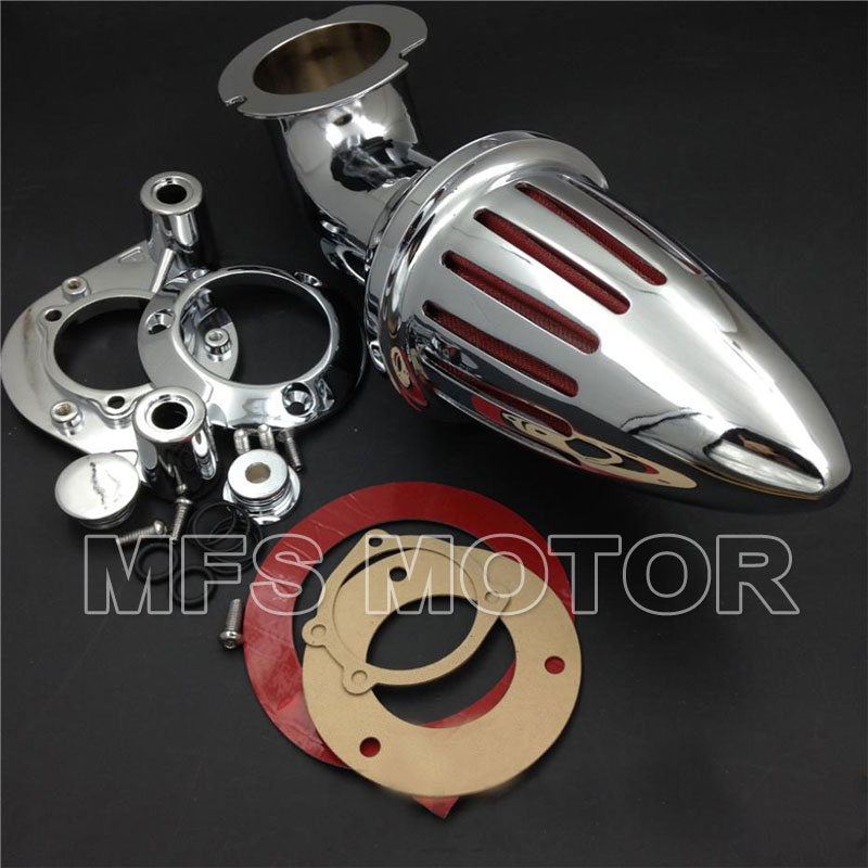 MFS MOTOR Chrome Air Cleaner kits filter for Harley Davidson 1991 2006 XL  models sportster Motorcycle Accessories-in Air Filters & Systems from
