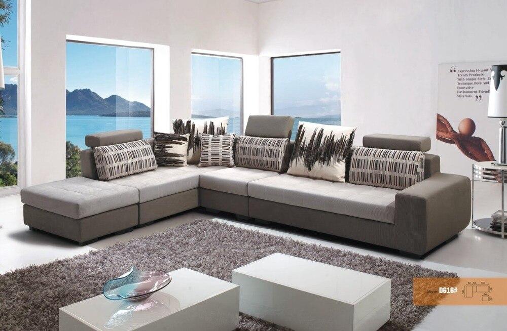 moderne lavable tissu de velours canap dangle ensemble salon meubles chine en bois cadre l forme - Salon Canape Moderne