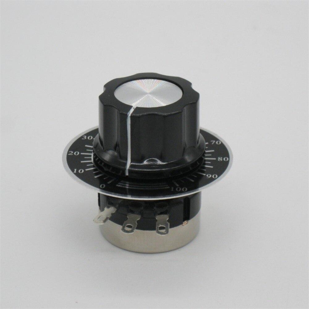 3590 10 Turn Potentiometer Wirewound Adjustable Resistor Rotary Dial Knob Blue