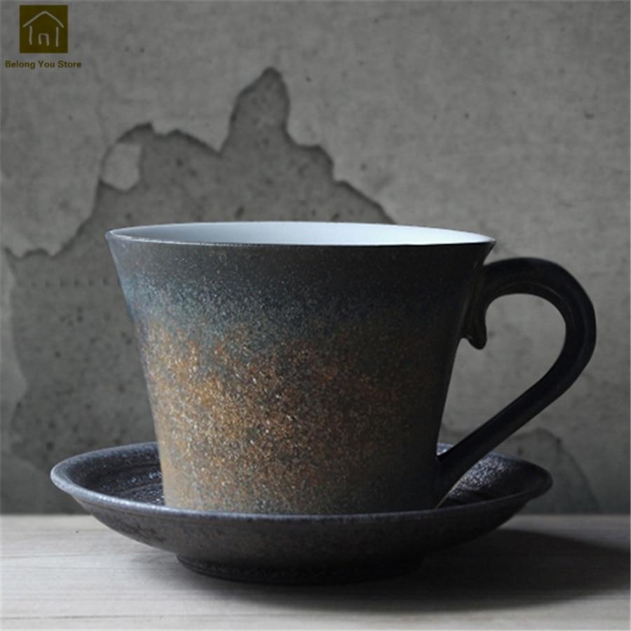 Vintage Couple créatif tasses à café tasse à thé eau grand Art fournitures Caneca Simple à la main tasses personnalisé Simple JKE213
