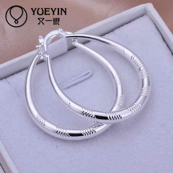 Wholesale silver plated hoop earrings for women big circle Exaggeration Sexy jewelry oorbellen korvakorut Romantic