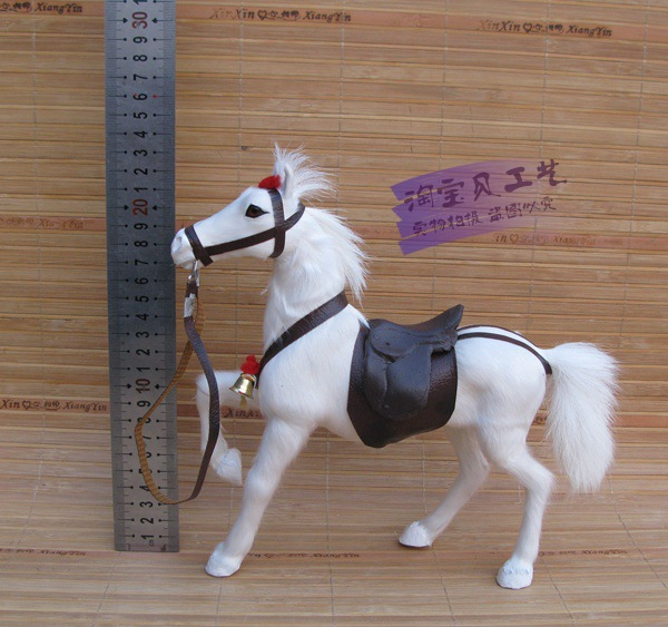 white simulation horse model toy resin&fur horse with saddle doll gift about 23x7x23cm 1183 simulation mini golf course display toy set with golf club ball flag