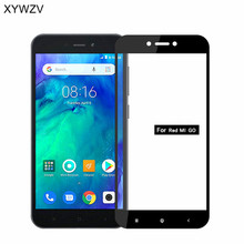 2PCS Full Glue Cover Glass For Xiaomi Redmi GO Tempered Screen Film Go Front