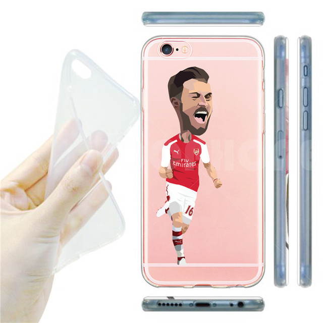 Soft TPU Phone Cases For iphone 6s 5 5s se 6 Plus Famous Soccer Football Player Star Antoine Griezmann Ronaldo Cover